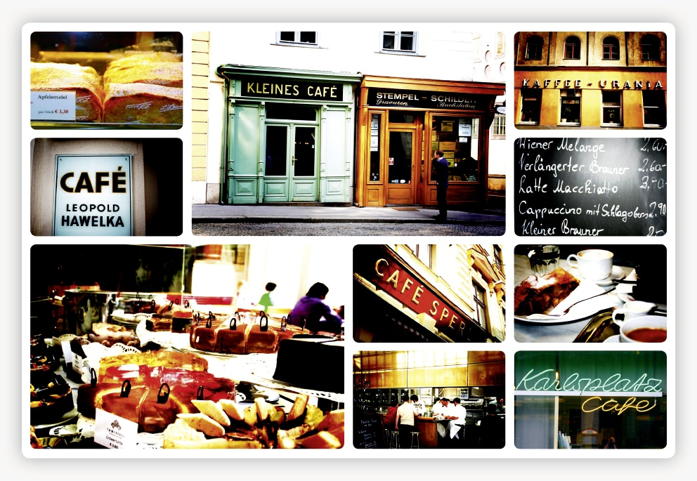 #056 Collage Wiener Kaffeehaus 1