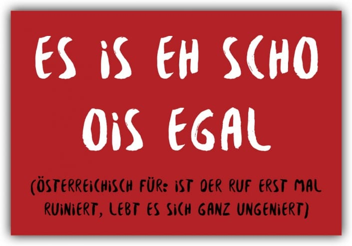 #032 Is eh scho ois egal