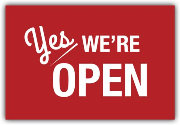 #038 Yes, we're open