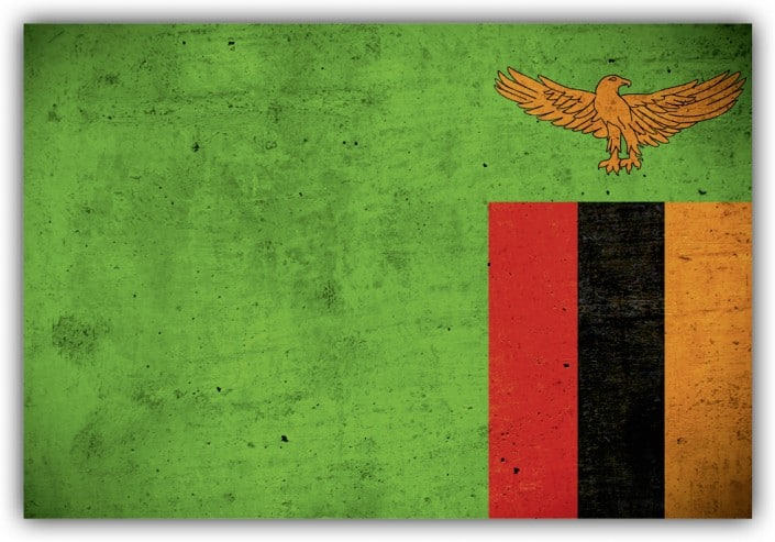 #514 Flagge Sambia