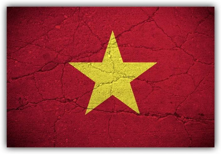 #523 Flagge Vietnam